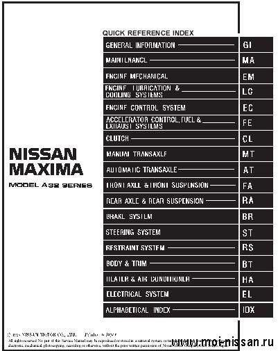 Nissan Cefiro & Maxima A32