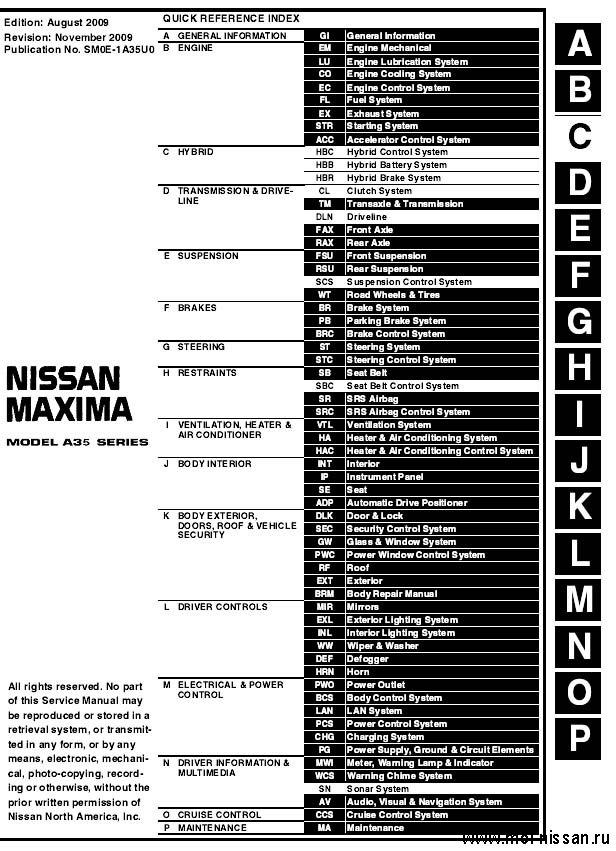 Nissan Maxima A35_2010
