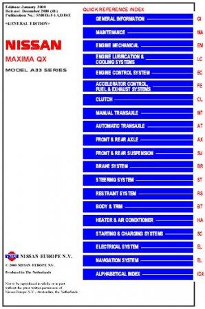Nissan Cefiro & Maxima A33 ( service_manual_en )