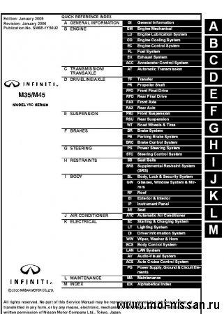 Nissan Fuga (Infiniti M45-M35) 2007 ( service_manual_en )