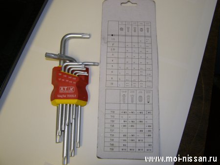 Набор ключей - звездочек X Ingtai Durable Wrench 9 pcs