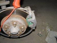 Замена задних тормозных колодок ... Проверка состояния тормозного диска  [ Фотоотчет ]
