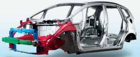 Элементы системы безопасности автомобиля: NCCBF  [ новая стойкая к столкновениям конструкция кузова ]