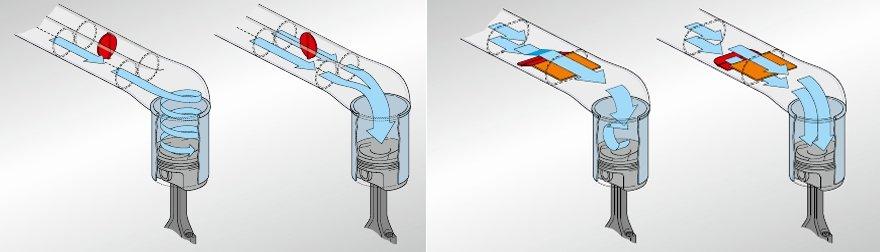 клапаны вихревой заслонки ford