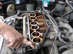 Чистка блока вихревых заслонок Nissan Cefiro [ VQ25DE ]
