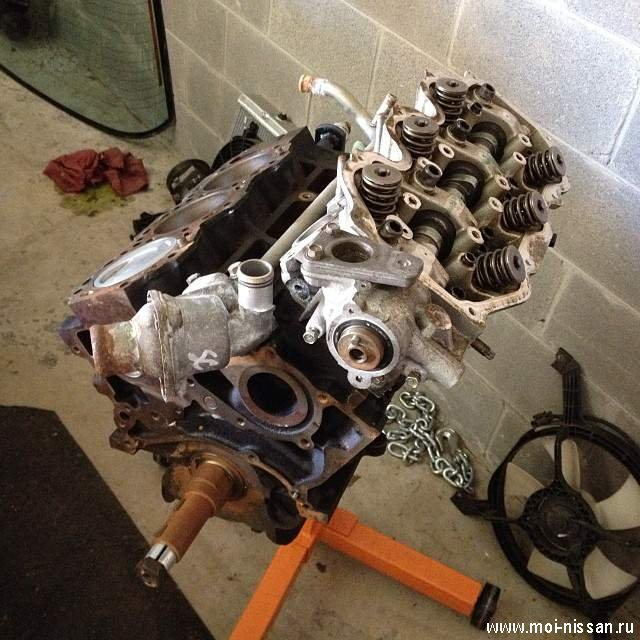 Замена двигателя ниссан своими руками 44
