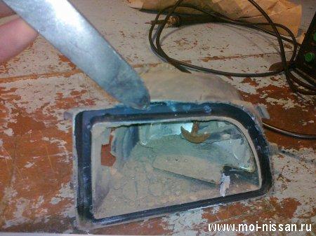 Ремонт противотуманной фары своими руками Nissan Cefiro A32