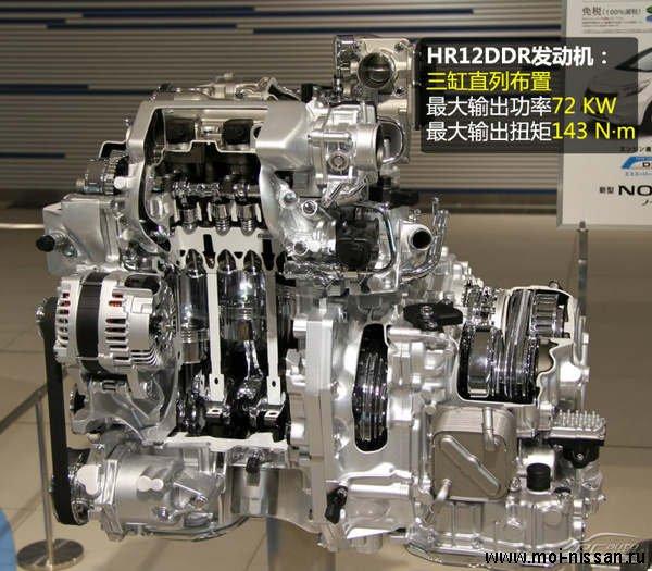Двигатель развивает мощность
