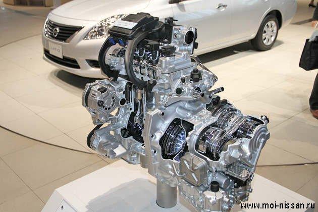Двигатель HR12DE .