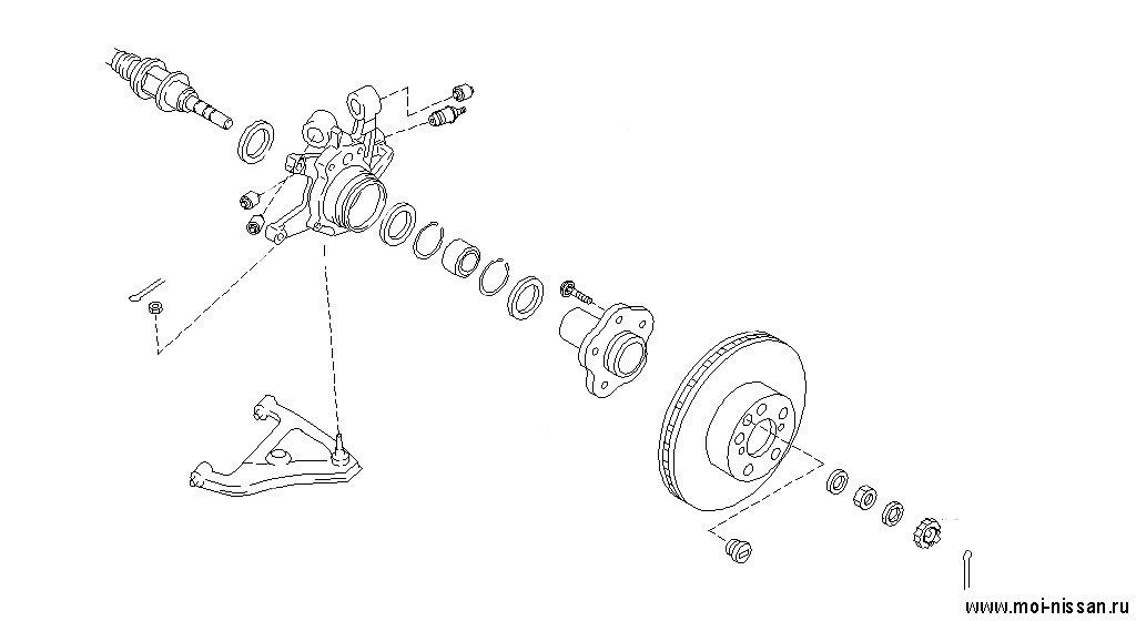 схема передней подвески ниссан рнесса
