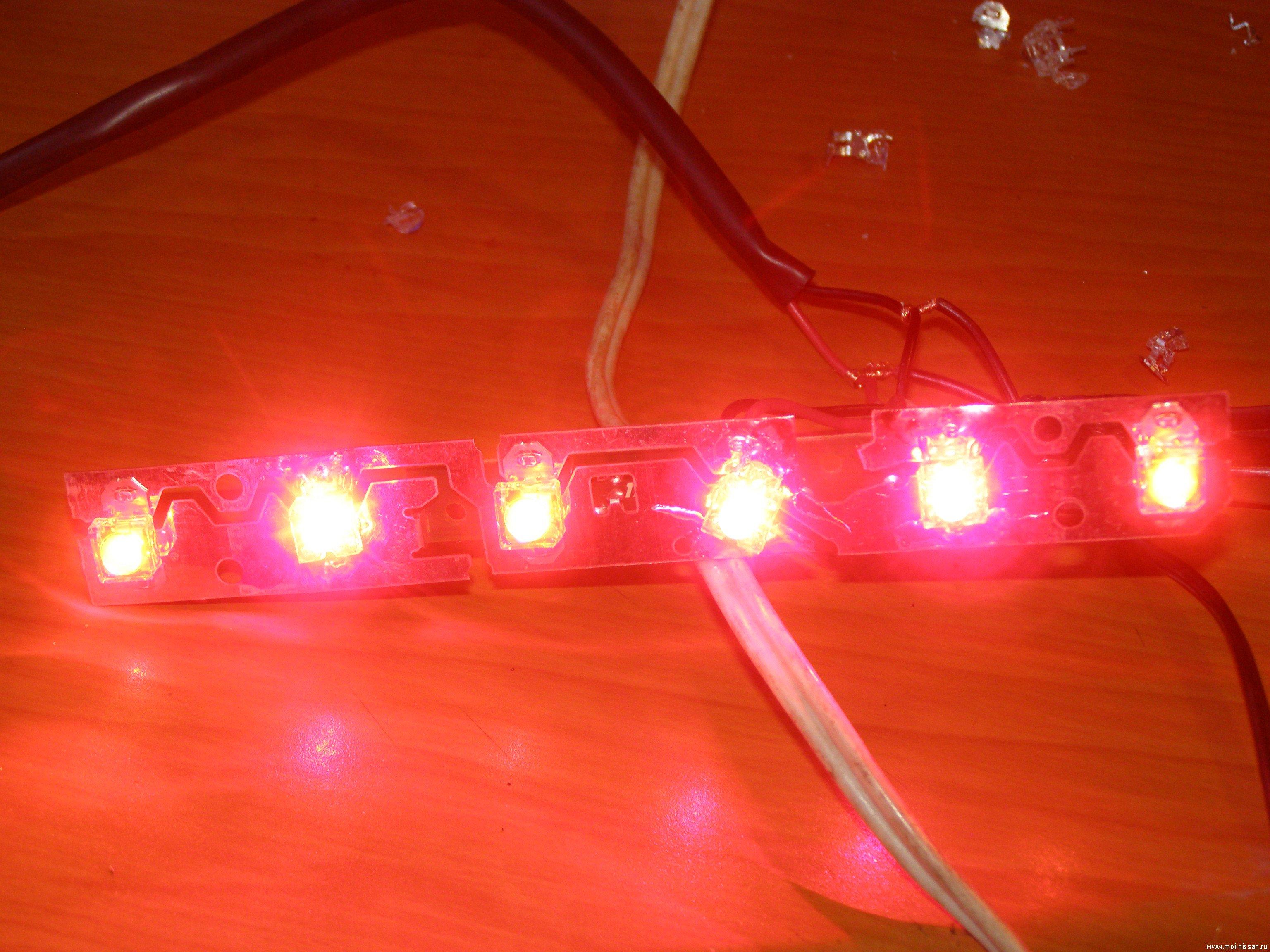 Как сделать светодиод на стоп 694