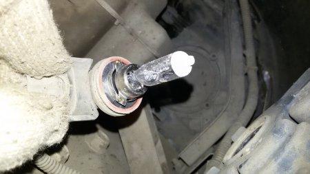 Замена ламп противотуманок на Nissan Teana